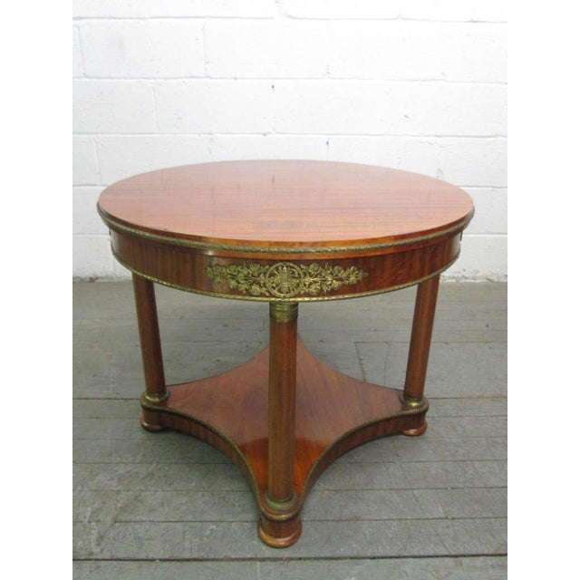 Mahogany French Gueridon Table For Sale In New York - Image 6 of 6