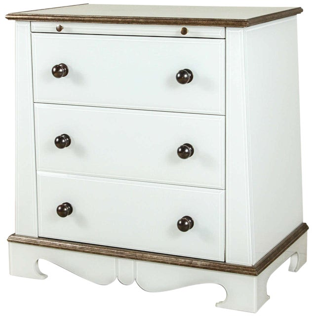Paul Marra European Style Chests in Opaline Glass, Pair - Image 1 of 6