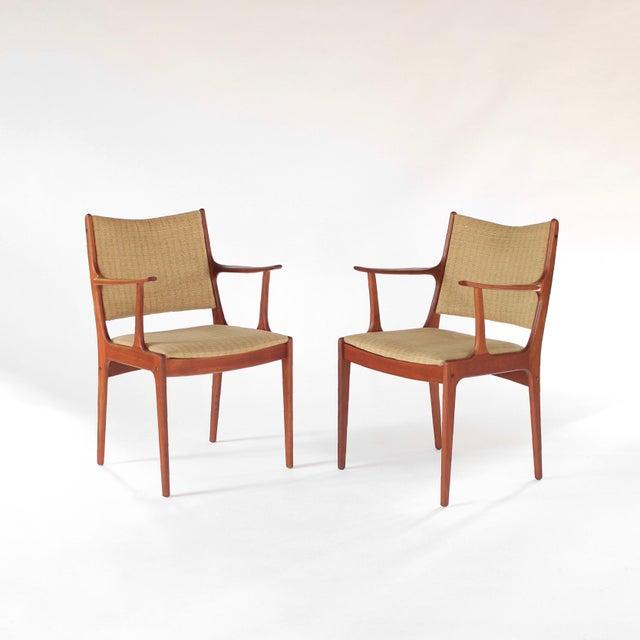 Mid Century Danish Modern Johannes Andersen for Uldum Møbelfabrik Dining Chairs- A Pair For Sale - Image 11 of 11