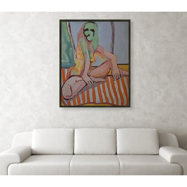 """'Nude Lady' is a 33""""x 40"""" oil painting on canvas. Begun while I was visiting my parents at their Arizona home in 2010, it..."""
