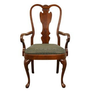 Pennsylvania House Queen Anne Style Splat Back Dining Arm Chair For Sale