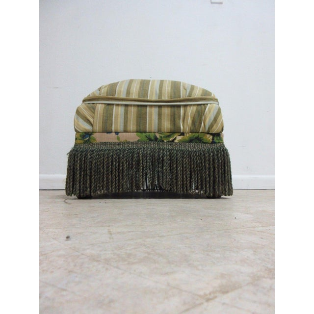 Antique Storage Footstool Ottoman For Sale - Image 4 of 11