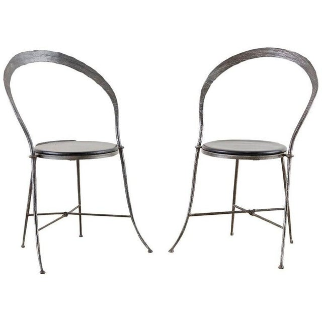 Pair of Giovanni Banci Midcentury Sculptural Iron Chairs For Sale - Image 13 of 13