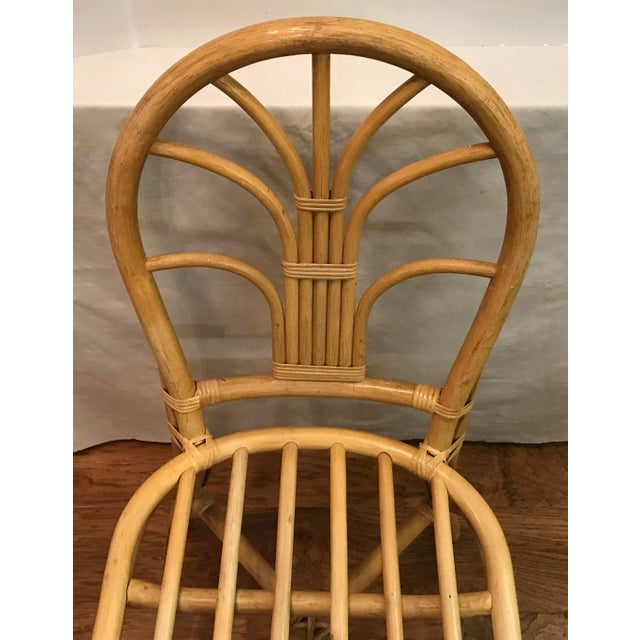 Tan Vintage Mid Century Bamboo Chair For Sale - Image 8 of 10