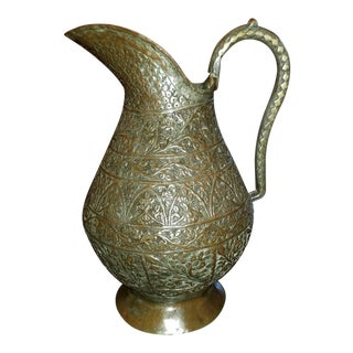 18th C. Indo-Persian Bronze Pitcher For Sale