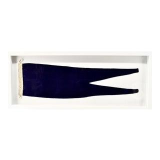 1970s Vintage Framed Nautical Pennant, Framed For Sale