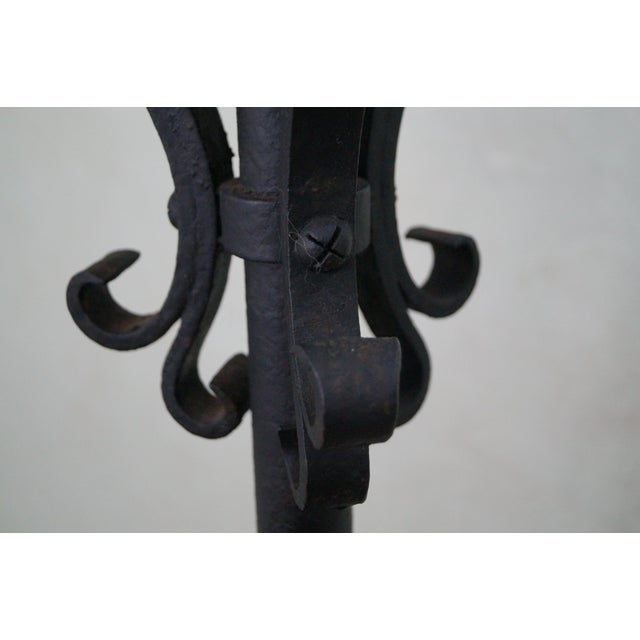 Quality Wrought Iron Torchieres Candle Holders - Image 6 of 10