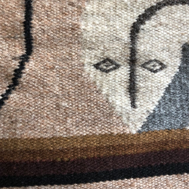 Textile 1980s Modernist Reptile Handwoven Tapestry For Sale - Image 7 of 11