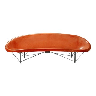 Heated Indoor/Outdoor Helios Lounge in Gunmetal & Orange For Sale