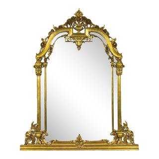 Renaissance Revival Style Over Mantle Mirror