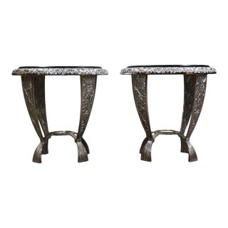 Seville Metal Art Studio End Tables- a Pair For Sale