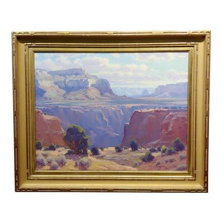 Ron Rencher Grand Canyon National Park Viewpoint- Oil Painting For Sale