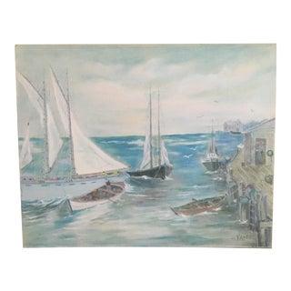 Original Art Nantucket Sailboat Oil Painting