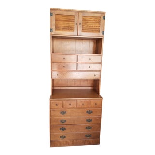 Ethan Allen Furniture Hutch and Base Set For Sale