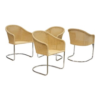 Harvey Probber Style Cantilever Chairs - Set of 4 For Sale
