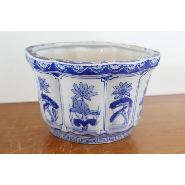 Vintage Mid Century Small Lotus Planter For Sale In New York - Image 6 of 6