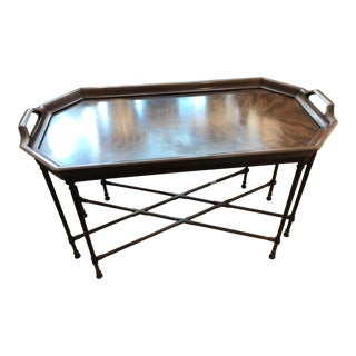 Tray Style Mahogany Coffee Table For Sale