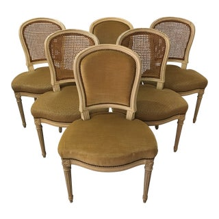Louis XV Style Dining Chairs a La Montgolfier - Set of 6