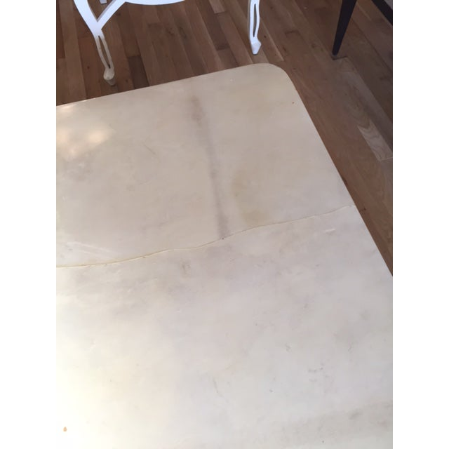 Karl Springer Style Monumental Goatskin Cocktail Table - Image 5 of 8