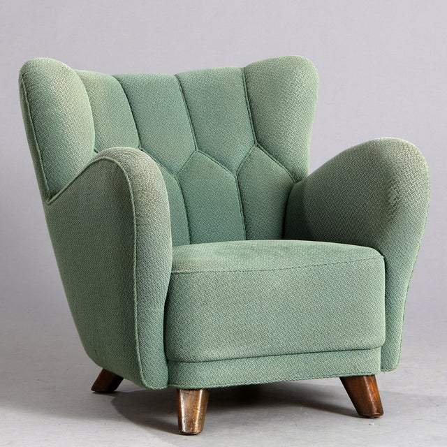 1940s Vintage Danish Club Chair For Sale In New York - Image 6 of 6