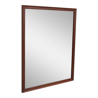 Kipp Stewart Wall Mirror in Solid Walnut by Drexel, USA, 1950s For Sale