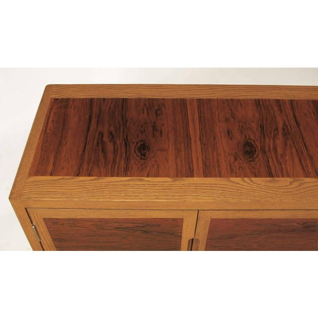 Oak Dunbar Rosewood and White Oak Credenza For Sale - Image 7 of 10