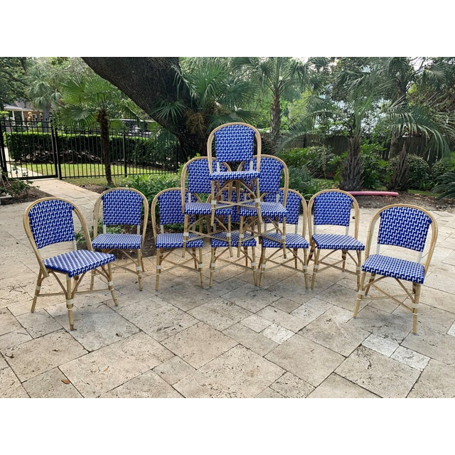 2010s French Bistro Indoor / Outdoor Chairs - Set of 10 For Sale - Image 5 of 5