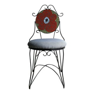 1960s Wrought Iron Mosaic Ice Cream Parlor Chair For Sale