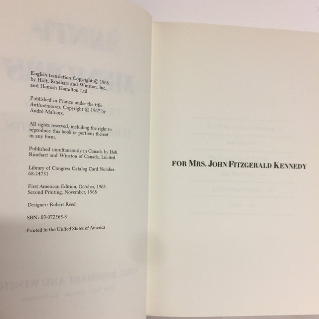 Anti-Memoirs Andre Malraux 1968 For Sale In New York - Image 6 of 8