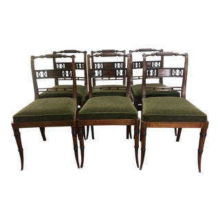 1960s Vintage French Side Chairs- Set of 6 For Sale