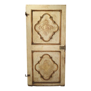 Antique Painted Door From Torino, Italy, 17th Century For Sale