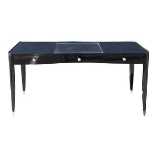 Black Ralph Lauren One Fifth Paris Bureau Plat Writing Table Desk For Sale