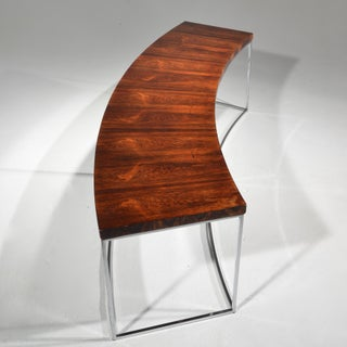 Milo Baughman Rosewood and Steel Circular Bench or Table Preview
