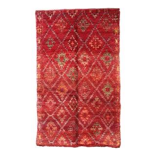 """Vintage Berber Moroccan Rug 6'6"""" X 10'4"""" For Sale"""
