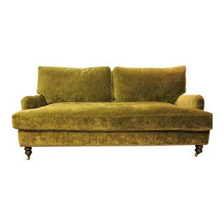 Cisco Brothers Penelope Green Upholstered Sofa For Sale