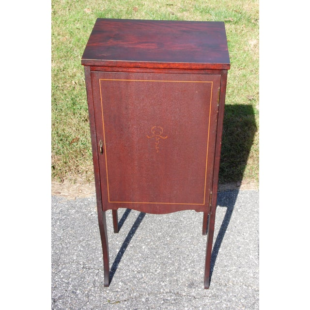 Art Deco Antique Mahogany Sheet Music Cabinet File Storage Record Stand For  Sale - Image 3 - Antique Mahogany Sheet Music Cabinet File Storage Record Stand