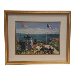 Garden at Sainte-Adresse Framed Print by Monet For Sale