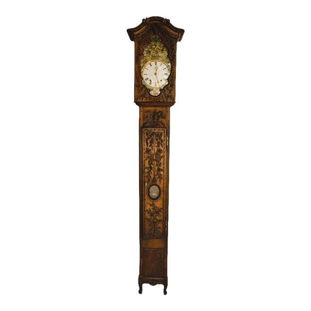 Carved 18th C French Lantern Clock Case With Movement For Sale
