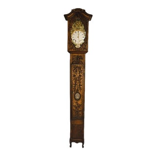 Superb Carved 18th C French Lantern Clock Case With Movement For Sale