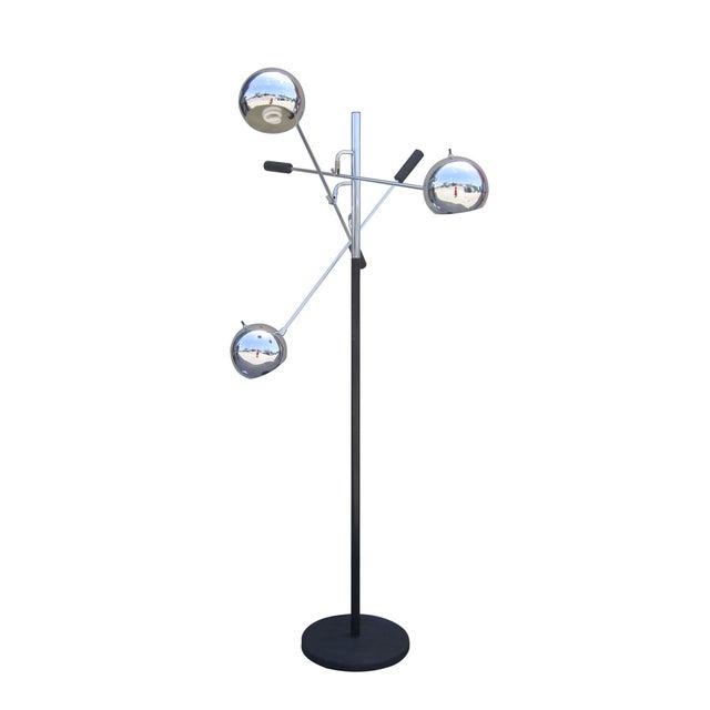 "Mid-Century Modern Space Age ""Orbiter"" Floor Lamp by Robert Sonneman For Sale - Image 3 of 6"