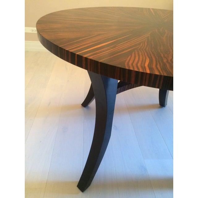 Zebra Wood Round Dining Table - Image 4 of 5
