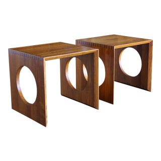 1960s Danish Modern Peter Hvidt for Richard Nissen Cube Nesting Tables - a Pair For Sale