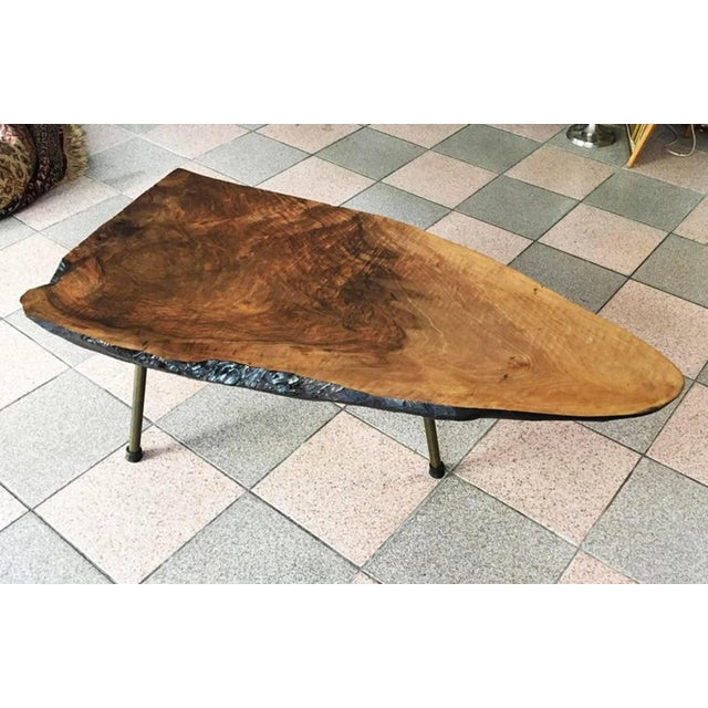Brown Big Tree Table by Carl Aubock, 1950s For Sale - Image 8 of 11
