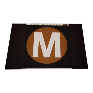 New York City Subway 'M' Train Sign For Sale