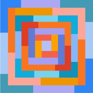 """""""Celebration of Spring No. 2"""" Contemporary Geometric Print by Sassoon Kosian For Sale"""