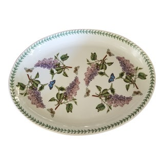 Lilac and Butterfly Large Serving Platter For Sale