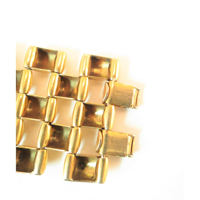 Mid-Century Kreisler Geometric Open-Link Vermeil Bracelet 1940s For Sale - Image 11 of 13