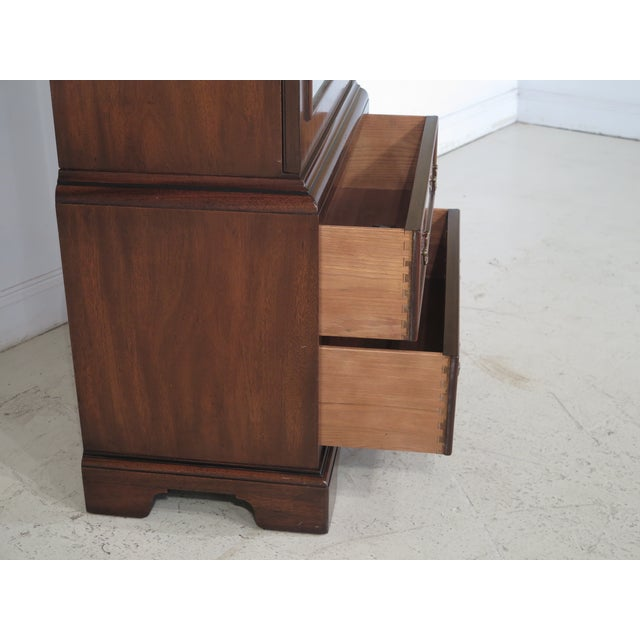 Kittinger Mahogany Bookcase Display Cabinet For Sale - Image 9 of 11