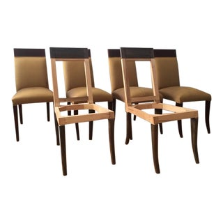Sergio Savarese Dialogica High Back Wood and Fabric Dining Chairs - Set of 6