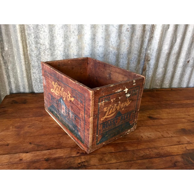 Vintage Libby's Roast Beef Wood Crate - Image 9 of 10